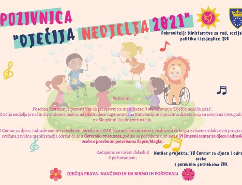 Centralna manifestacija Dječija nedjelja 2021